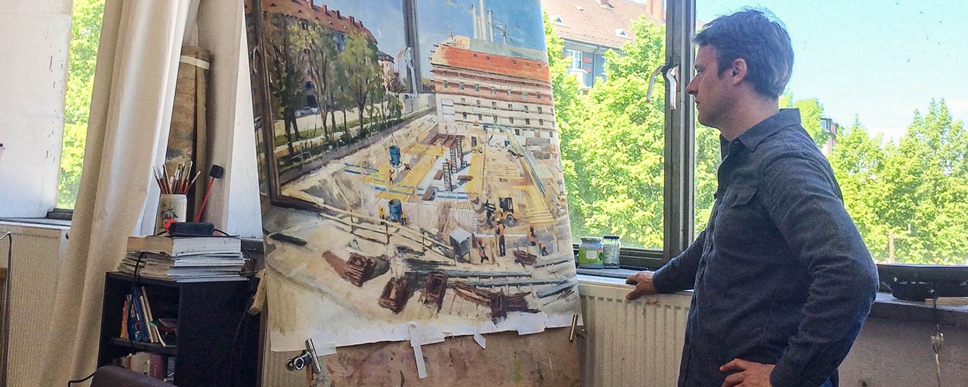 He Paints Where the Gasteig Sendling is Being Created: An Interview with Benjy Barnhart