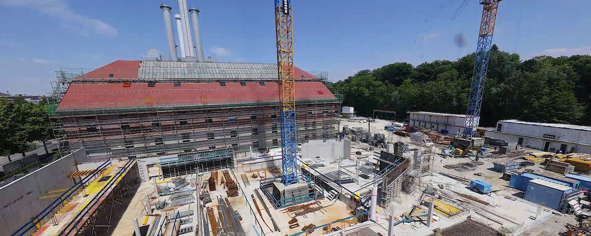 Run-Up to Topping Out: Gasteig Sendling Time-Lapse Video