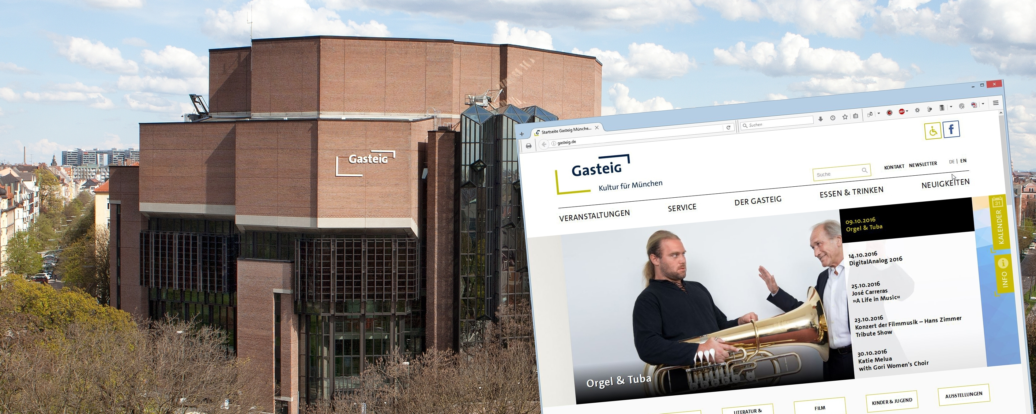 Welcome to the Gasteig!