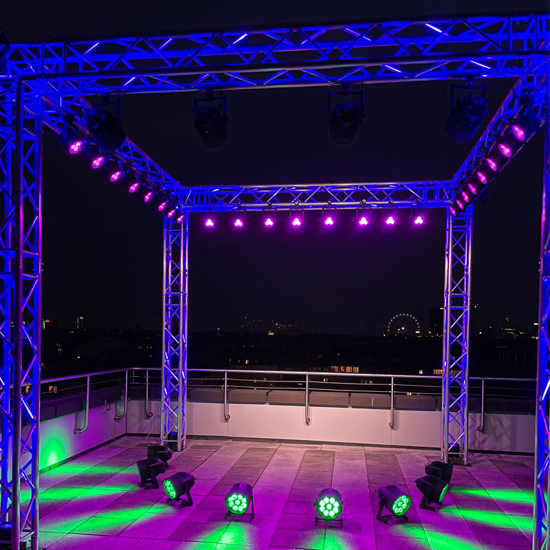 Picture shows roof top stage